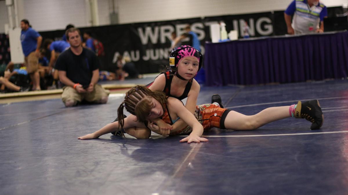 Abbie Peterson wrestling