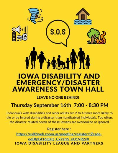 Iowa Disability League town hall