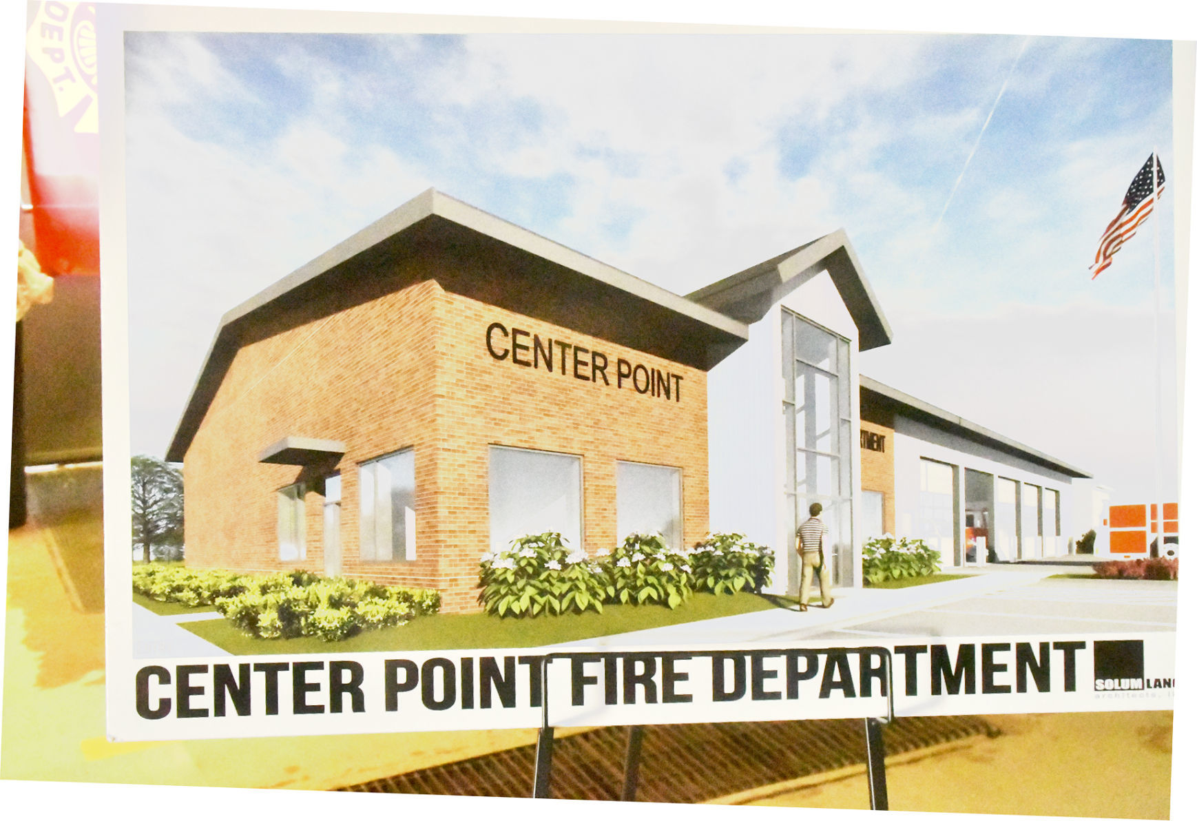 Exterior of proposed fire station