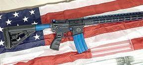 Custom AR-15 rifle in raffle