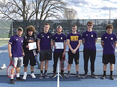Oelwein boys tennis places third at conference tournament