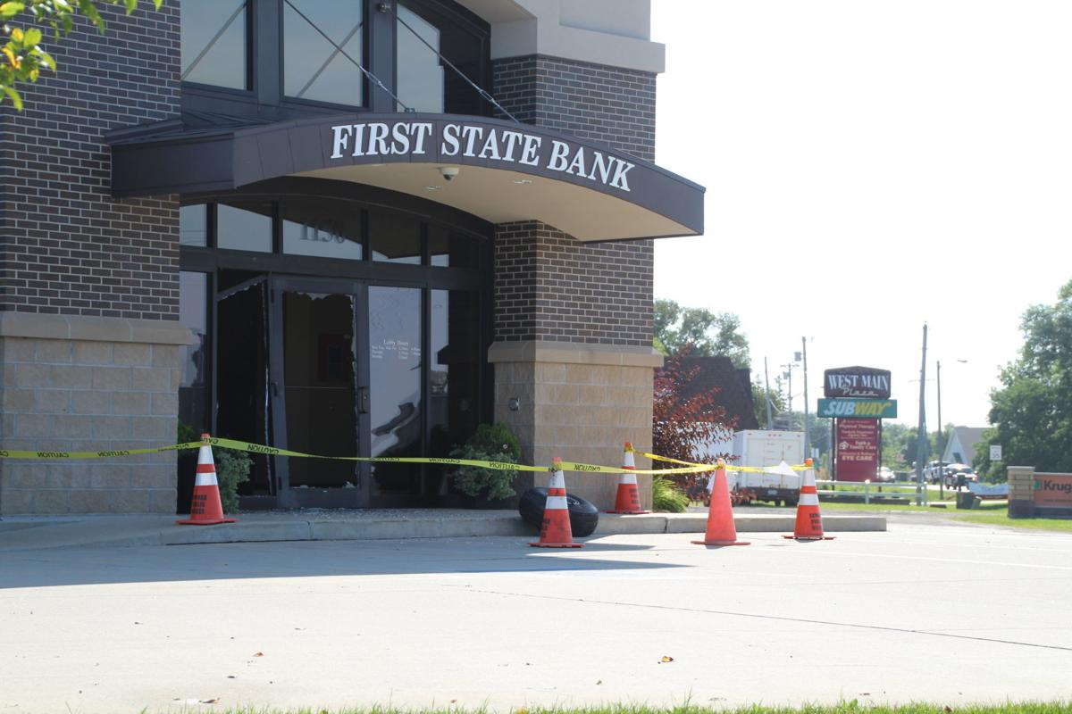 First State Bank hit by tire