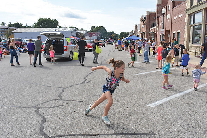 Chasing candy at Watermelon Days