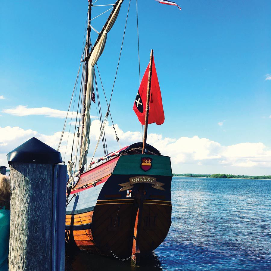 The Connecticut River museum in Essex will host the Onrust until early October.