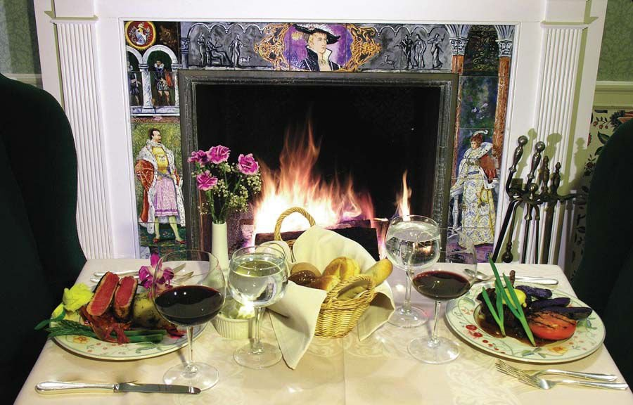 Dinner setup in front of fireplace.jpg