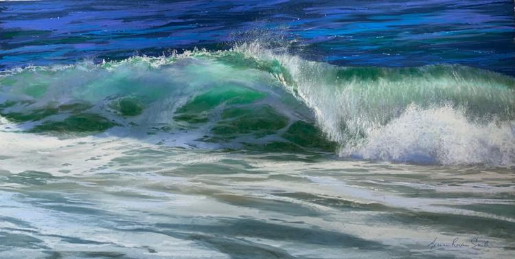 Jeanne Rosier Smith, Falling for You, Pastel, 24 x 48 inches