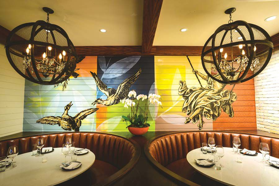 The murals Restaurant Porrón, one half of the new Hartford establishment Porrón & Piña