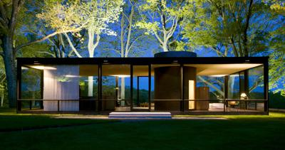 Outdoors Triumphant at Philip Johnson's Glass House in New Canaan