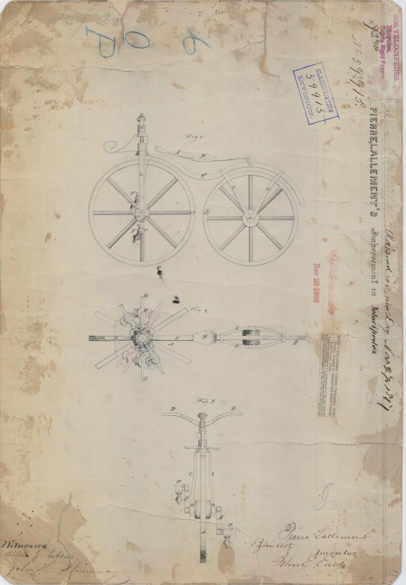 Unsung Connecticut Inventor Received First Patent for a Bicycle 150 Years Ago