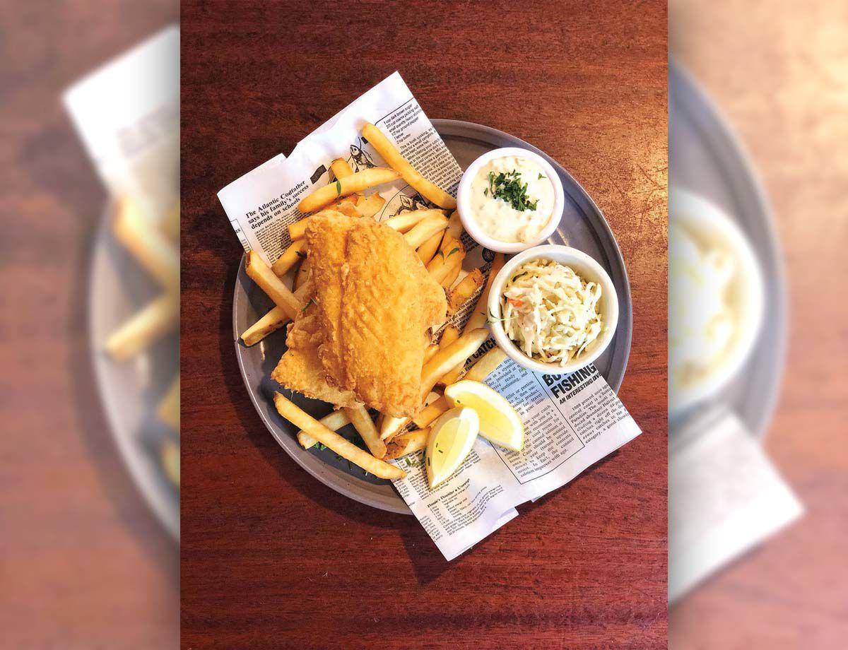 Fish and chips are among the specialties at Penny Lane Pub in Old Saybrook.