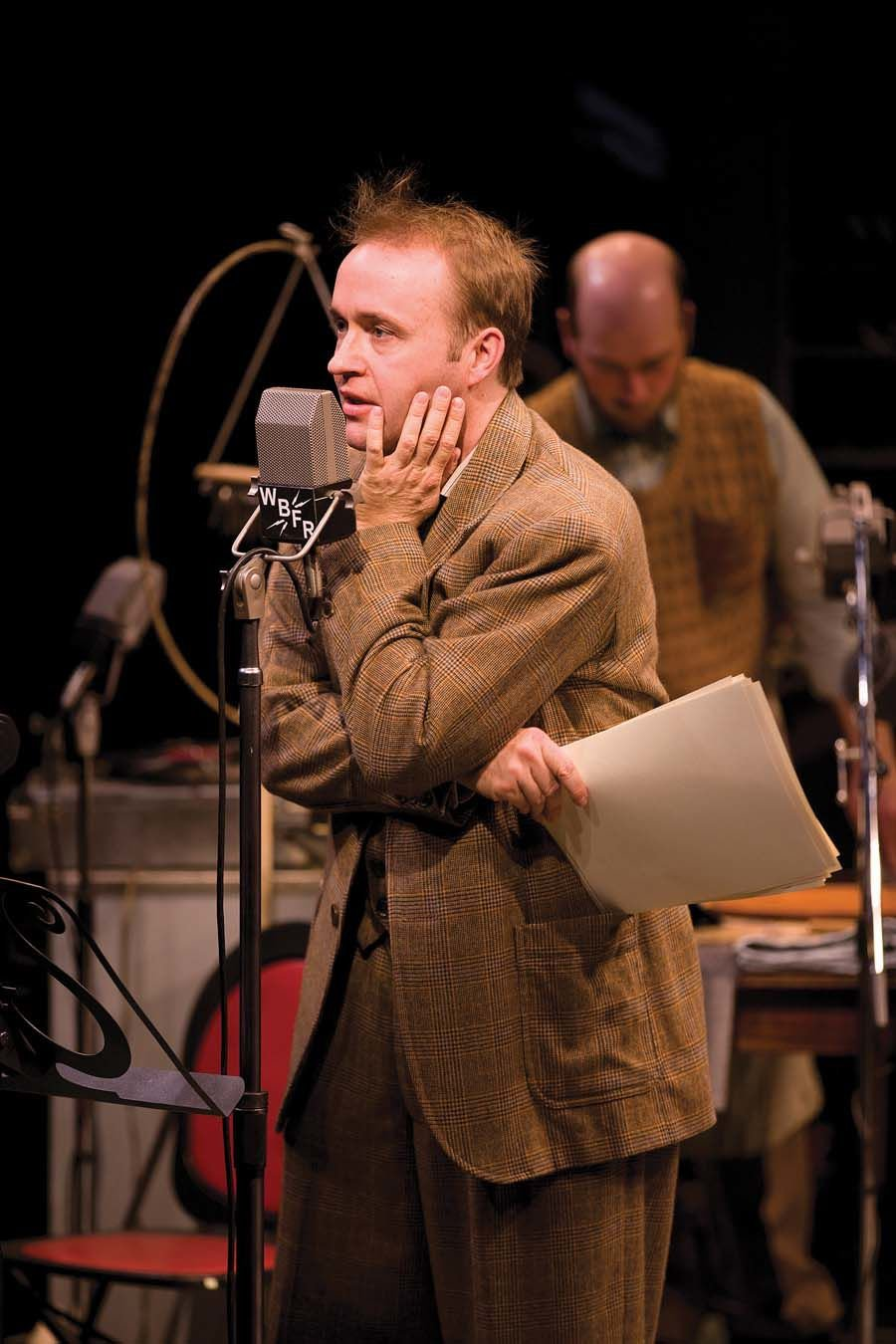 as George Bailey in Long Wharf Theatre's production of It's a Wonderful Life_ A Live Radio Play. Credit_T. Charles Erickson.jpg