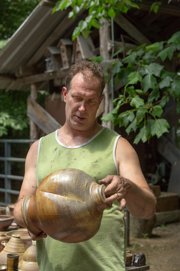 Woodbridge Artist's Fire Produces Perfect Pottery, Flaws and All