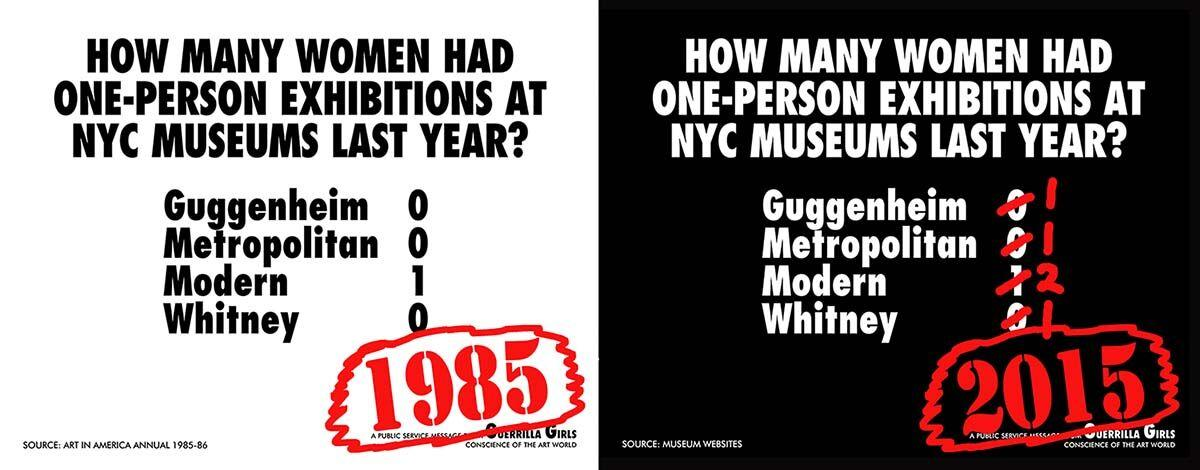 How Many Women Had Solo Shows At NYC Museums?, Recount 2015
