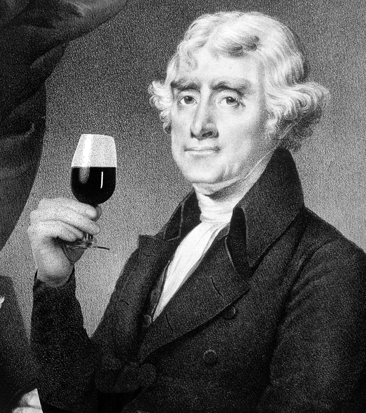Man,Holding,A,Glass,Of,Red,Port,Wine,,On,White
