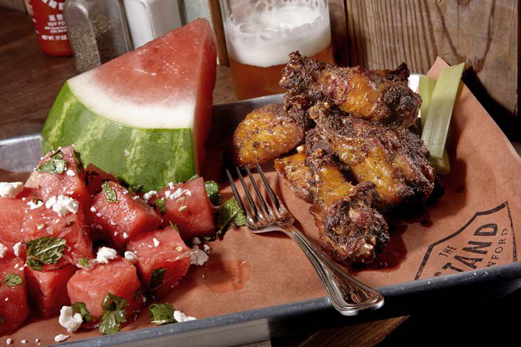 The Stand_ChickenWings Watermelon Salad