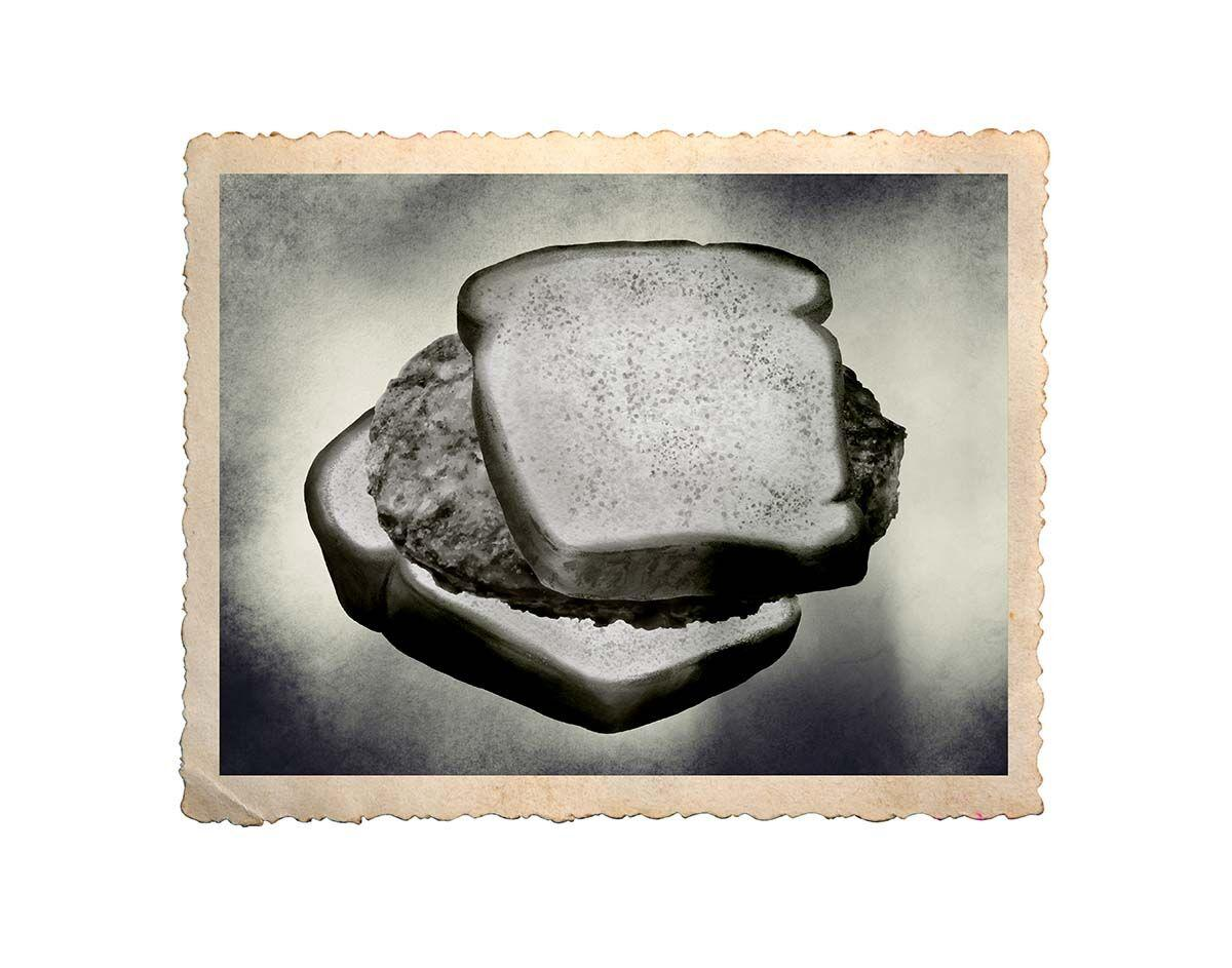Hand,Drawn,Watercolor,Slices,Of,Bread,Isolated,On,White,Background.