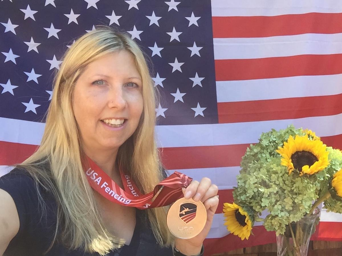 Sandra Marchant with Medal