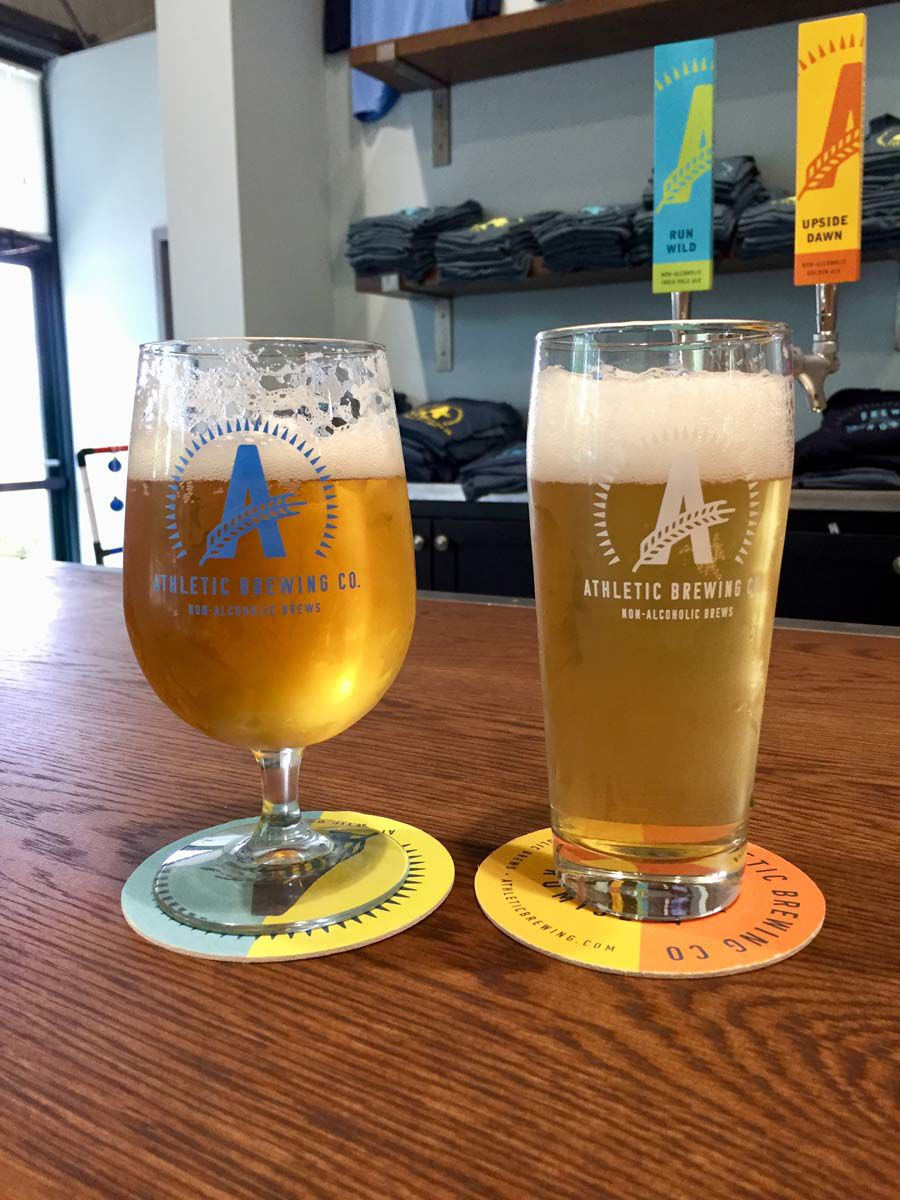 The Athletic Brewing Co. in Stratford is one of the only breweries in the country specializing in non alcoholic beer