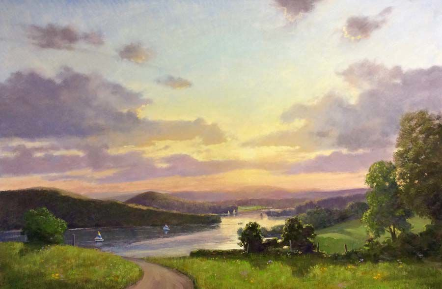 The work of Southbury artist Thomas Adkins is on display at the Gregory James Gallery until Dec. 31.