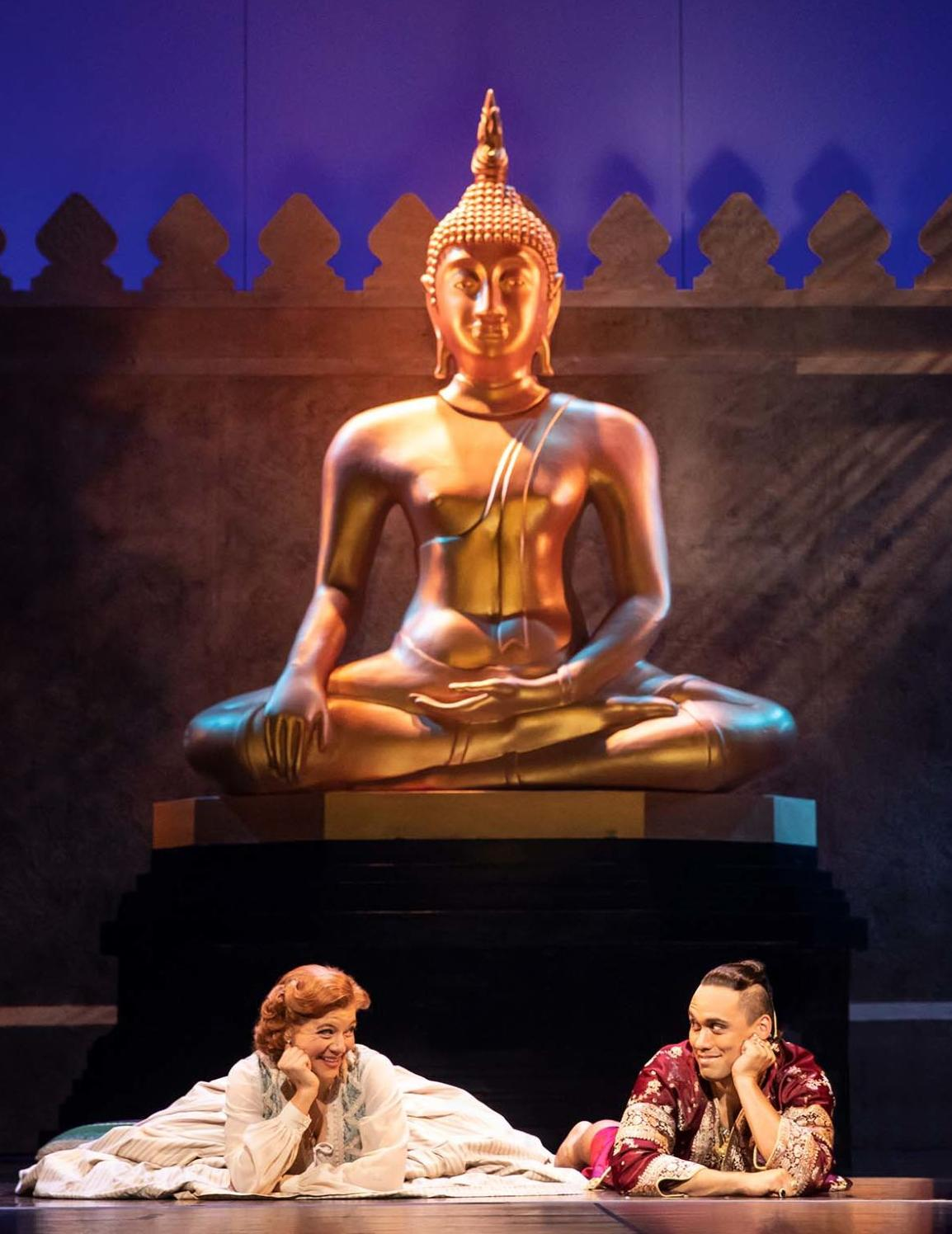 Angela Baumgardner as Anna Leonowens and Pedro Ka'awaloa as the King of Siam in Rodgers & Hammerstein's THE KING AND I. Photo by Matthew Murphy..jpg