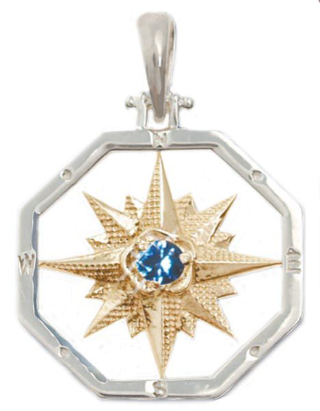 """Steven Edward's """"The Touch"""" Compass Rose collection, which includes pendants, bracelets, cufflinks and more, is a beautiful reminder to navigate your own destiny. Price varies by piece, from Mystic Silver and Company, Mystic, mysticsilverandcompany.com."""