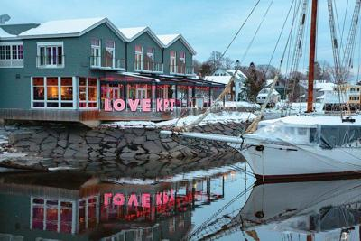 This charming Maine community is a winter wonderland in February
