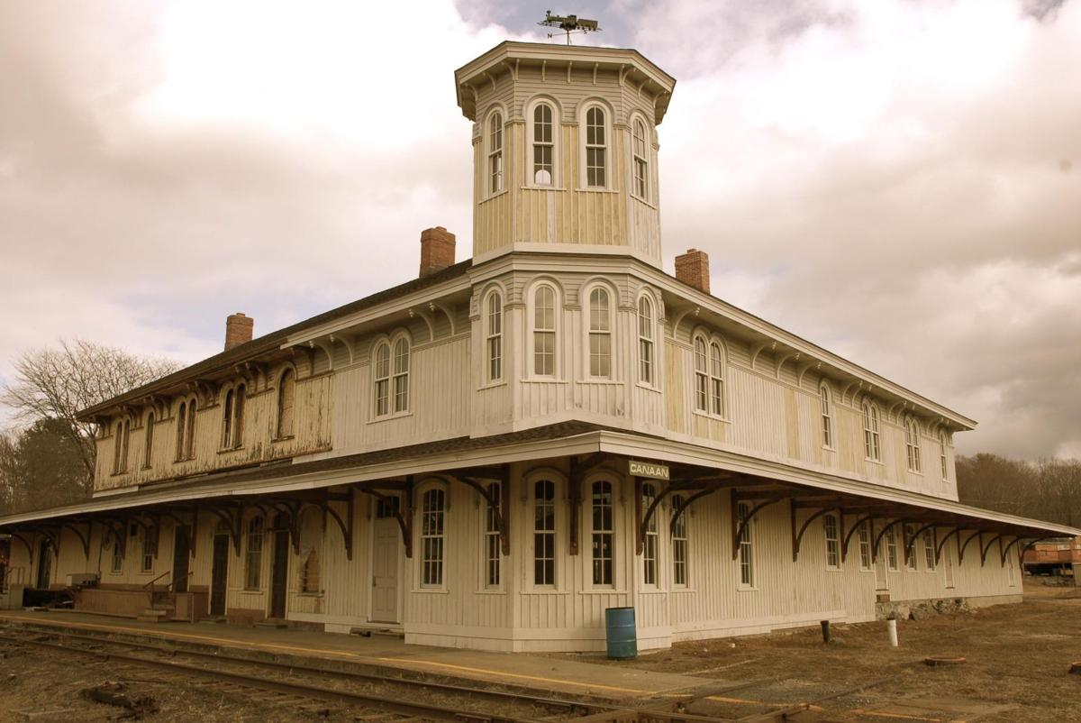 Repairs at Historic Canaan Railroad Depot on Track Again; Fire Hit in 2001