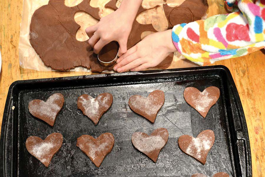 Chocolatey, crisp Melody cookies in the works_Photo by Shelley Lawrence Kirkwood.jpg