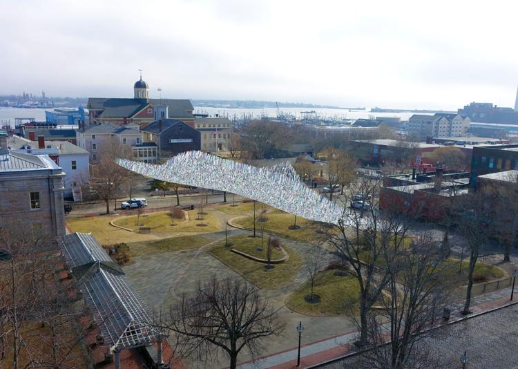"Rendering of ""Silver Current"" by Patrick Shearn in New Bedford, MA"