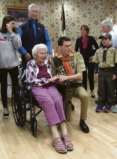 Coop scout bringsEagle ceremony to grandmother, 102
