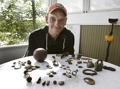 Man unearths treasure trove with metal detector
