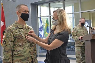 Hospital president promoted in guard