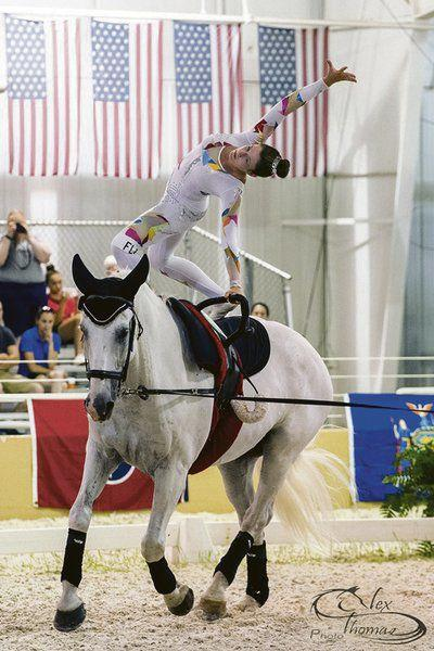 Local equestrian vies in St. Louis vaulting competition