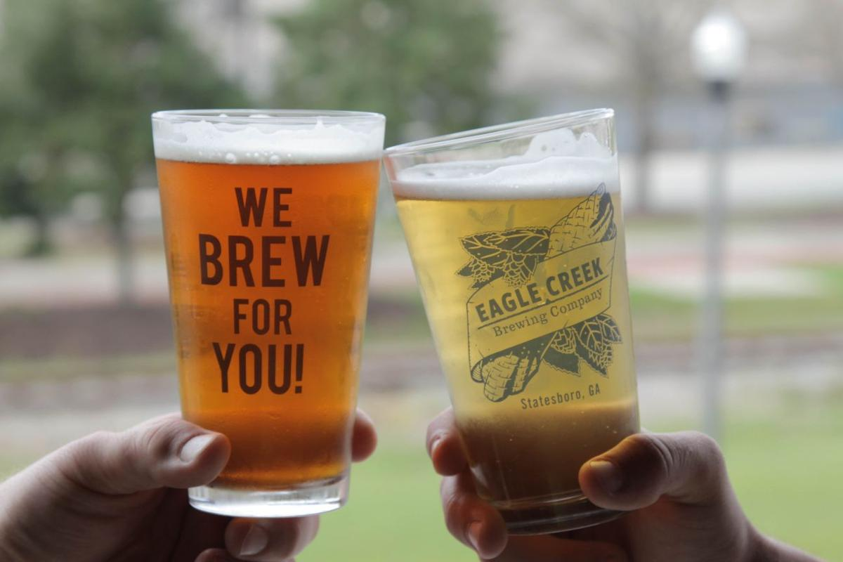 Eagle Creek beer glasses