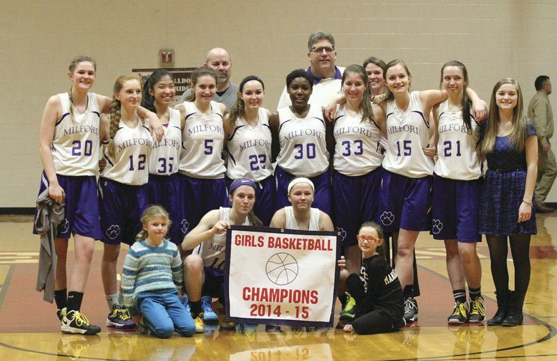 Milford girls win defensive battle in T-V title game