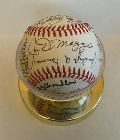 Rotary to raffle Hall ball featuring DiMaggio autograph