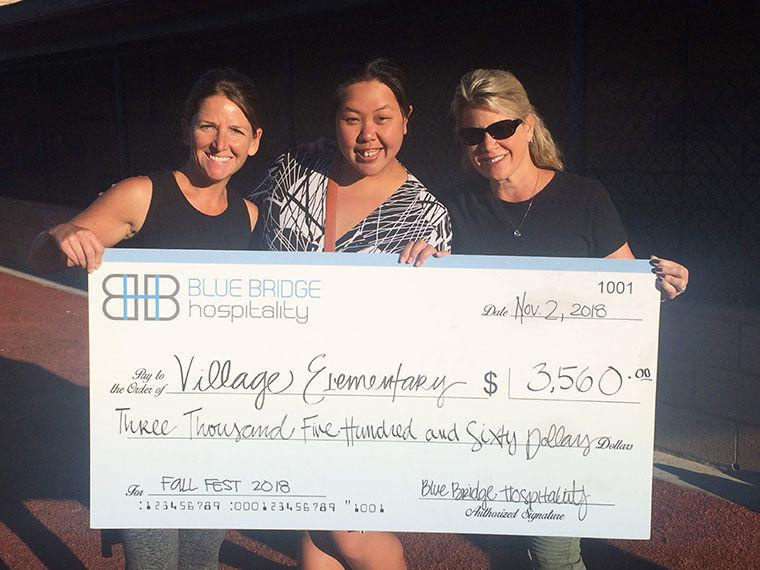 Check Presented To Village Elementary PTO     - Coronado Eagle &
