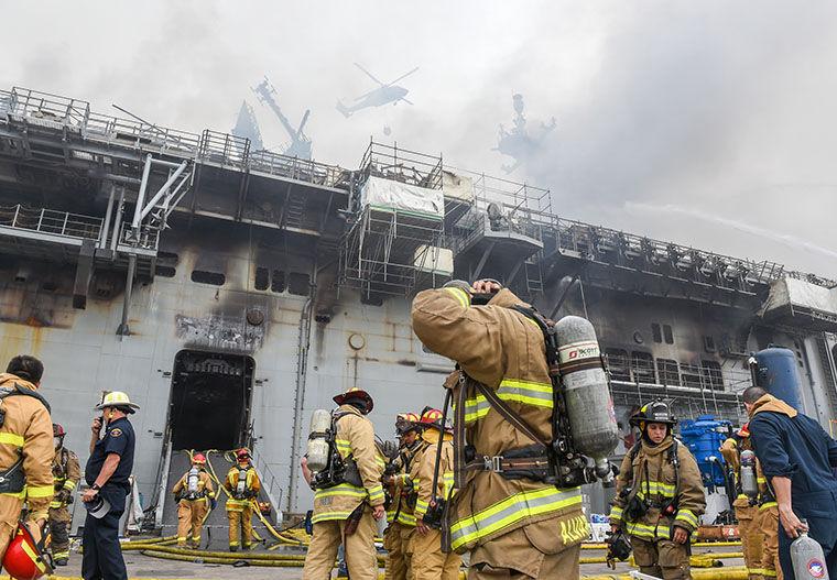 Fire Onboard The USS Bonhomme Richard ...