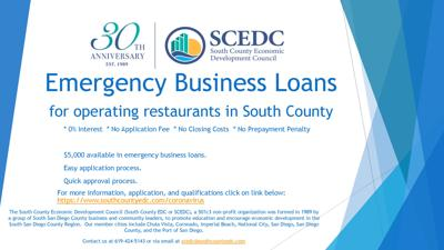SCEDC Offers Loans