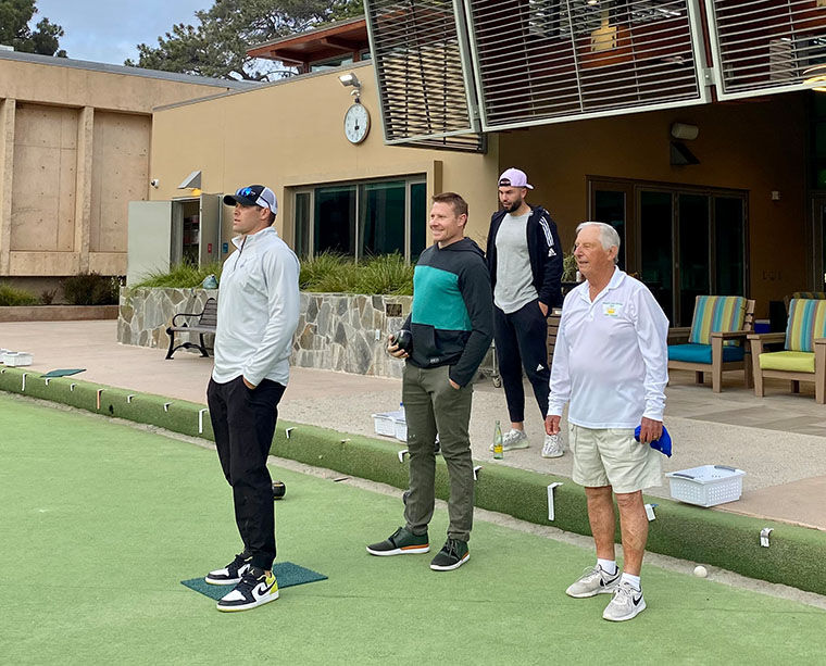 Padres Go Lawn Bowling ...