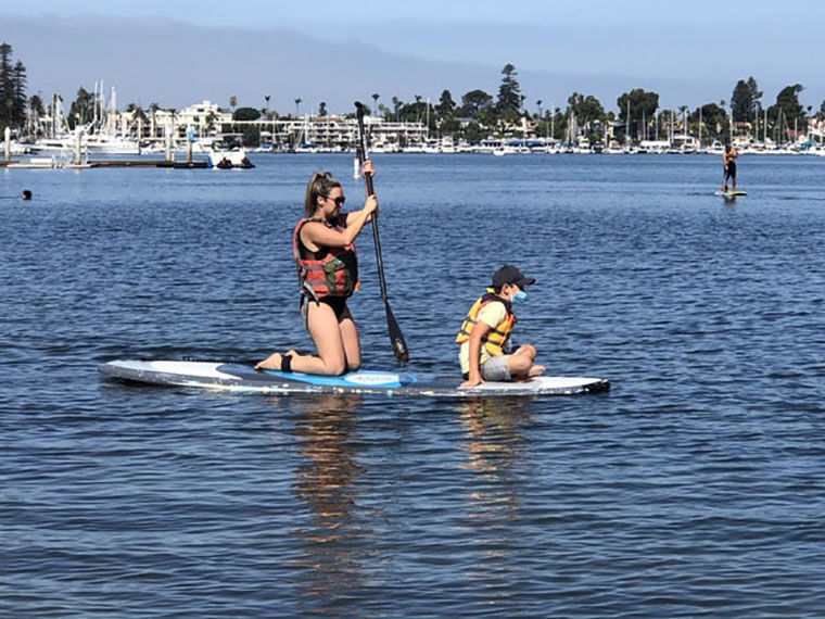 Paddling On Glorietta Bay ...