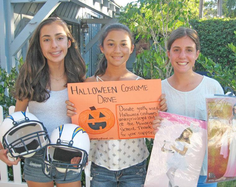 paloma ronis samantha lorr and amelia hawley 8th graders at coronado middle school cms and members of girl scout troop 5548 are collecting old and