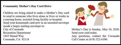 Mother's Day Card Drive ...