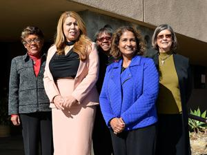<p>2020 Soroptimist Legends: From L–R: Dr. Constance Carroll, Dr. Martha Garcia, Dr. Joi Blake, Dr. Sunita Cooke, Dr. Kindred Murillo. (Not pictured, Dr. Cindy Miles.) The 2020 Legends will be honored at the 17th Annual Legends Luncheon on April 25, 2020 at the Coronado Marriott Resort Hotel. For more information go to www.CoronadoSoroptimist.org.</p>