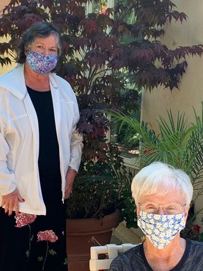 Coronado P.E.O. Making Masks ...