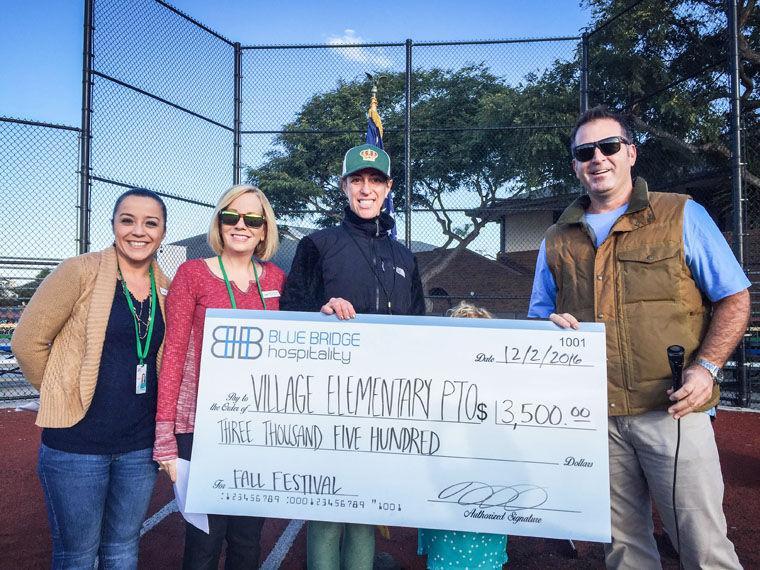 Fall Festival Donation Presented     - Coronado Eagle &