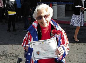 97-Year-Old Australian Passes U.S. Citizenship Test With Flying Colors