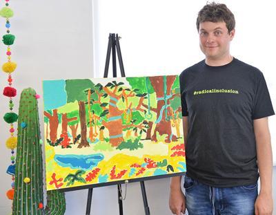 Local artist Jack Medved ...