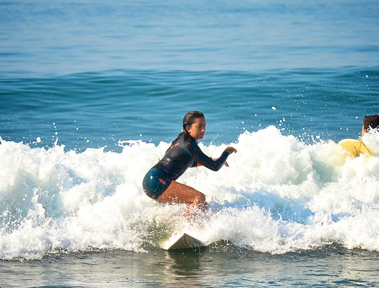 Practicing In The Surf ...