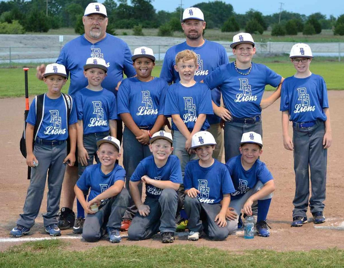 The Blooming Grove 10-Under Lions baseball team